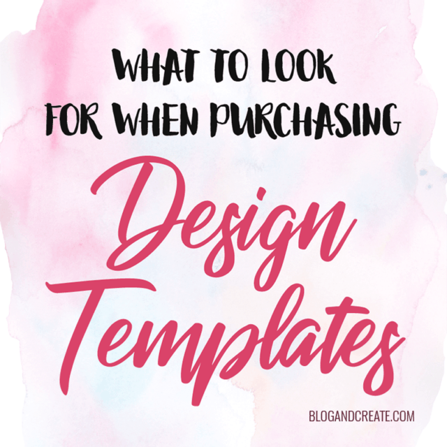 What to Look for When Purchasing a Design Template