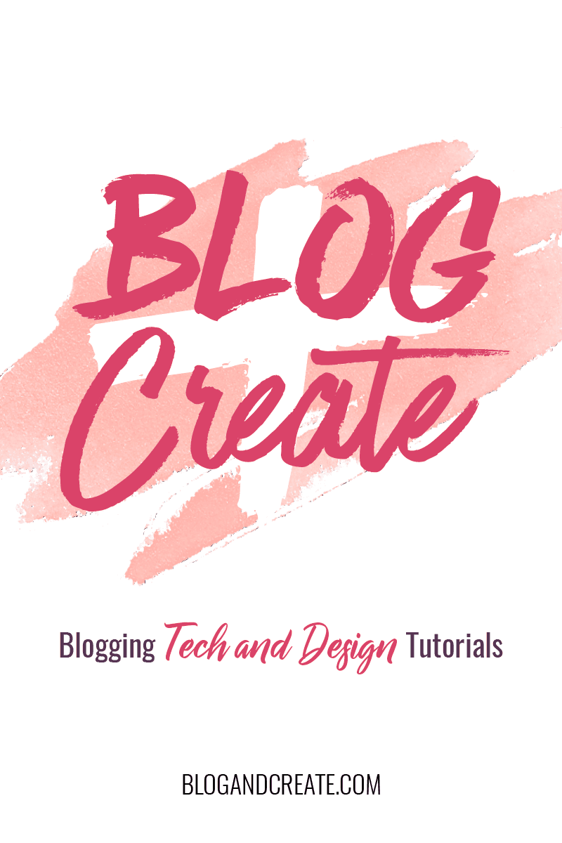 Blogging tips, tech tutorials, and design tutorials. Blog + Create has the most thorough information and tutorials for bloggers. #bloggingtips #bloggingforbeginners #bloggingtutorials
